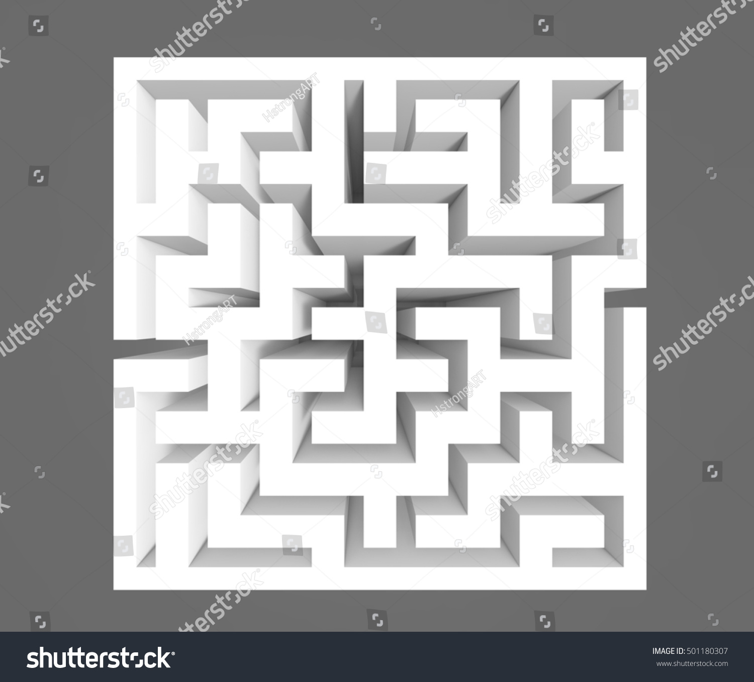 Top view of a tiny mouse (mus musculus) finding his way in maze | EZ ...