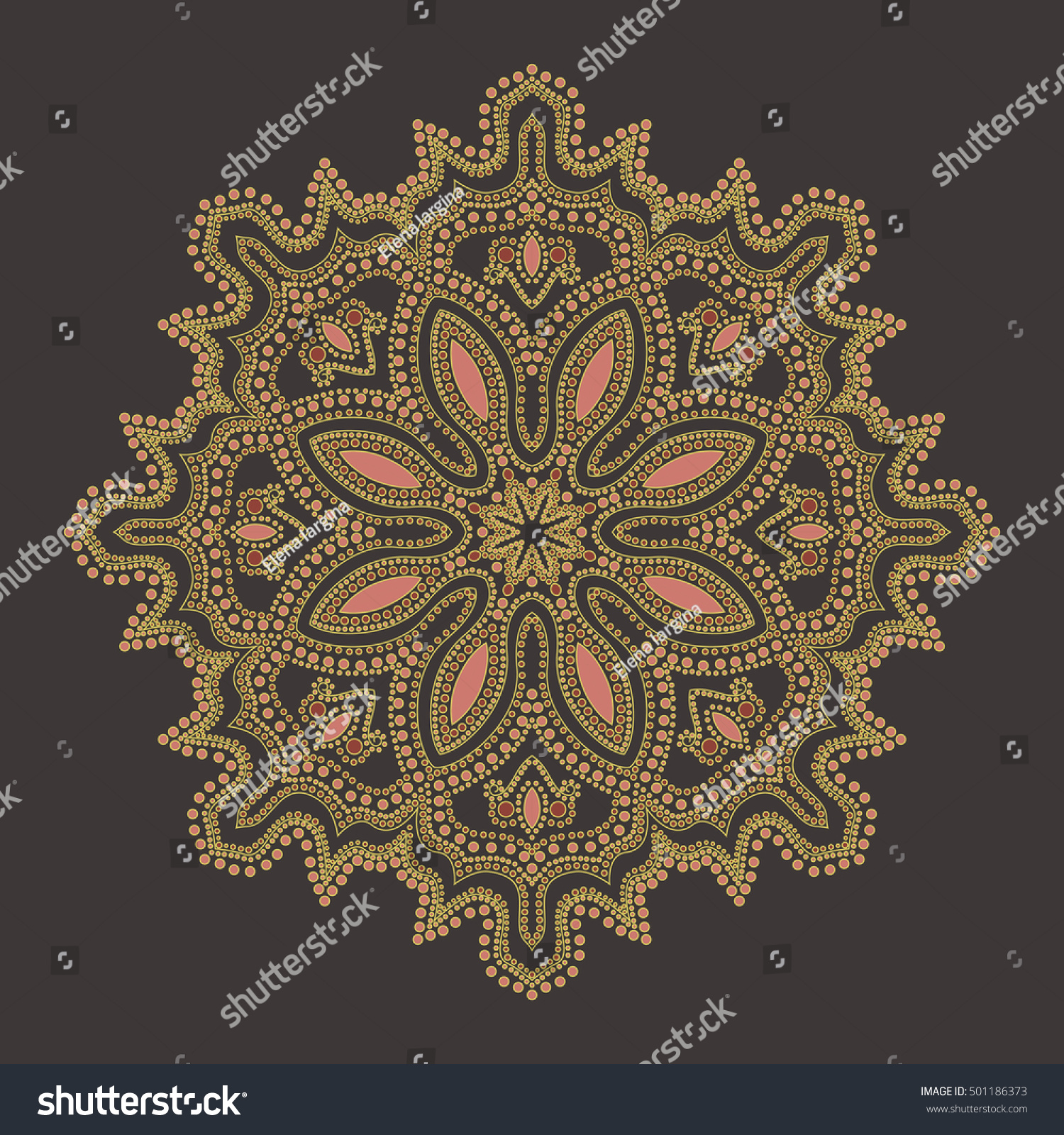 decorative element oriental motif ornament vintage stock vector 501186373 shutterstock. Black Bedroom Furniture Sets. Home Design Ideas