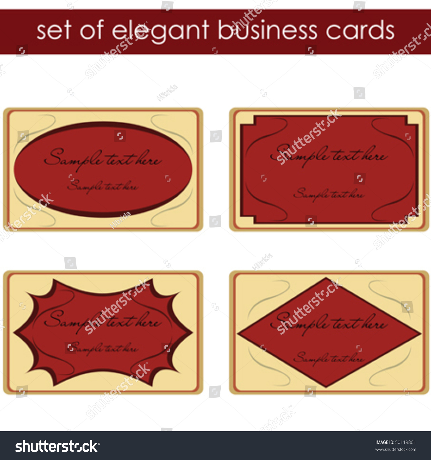 Elegant business cards labels stock vector 50119801 shutterstock elegant business cards labels magicingreecefo Gallery