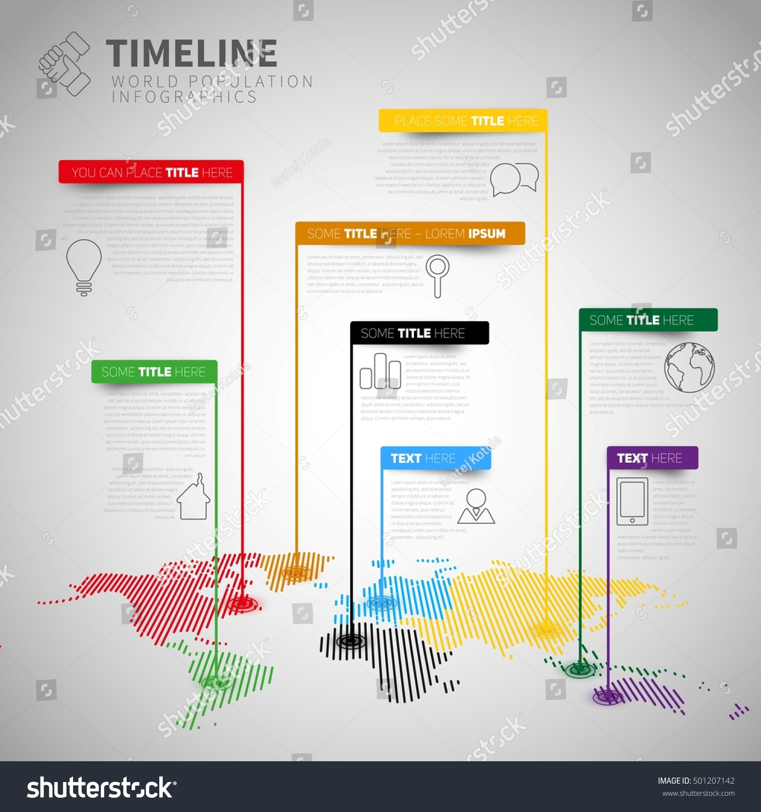 Infographic Timeline Report Template Icons Labels Stock Vector ...