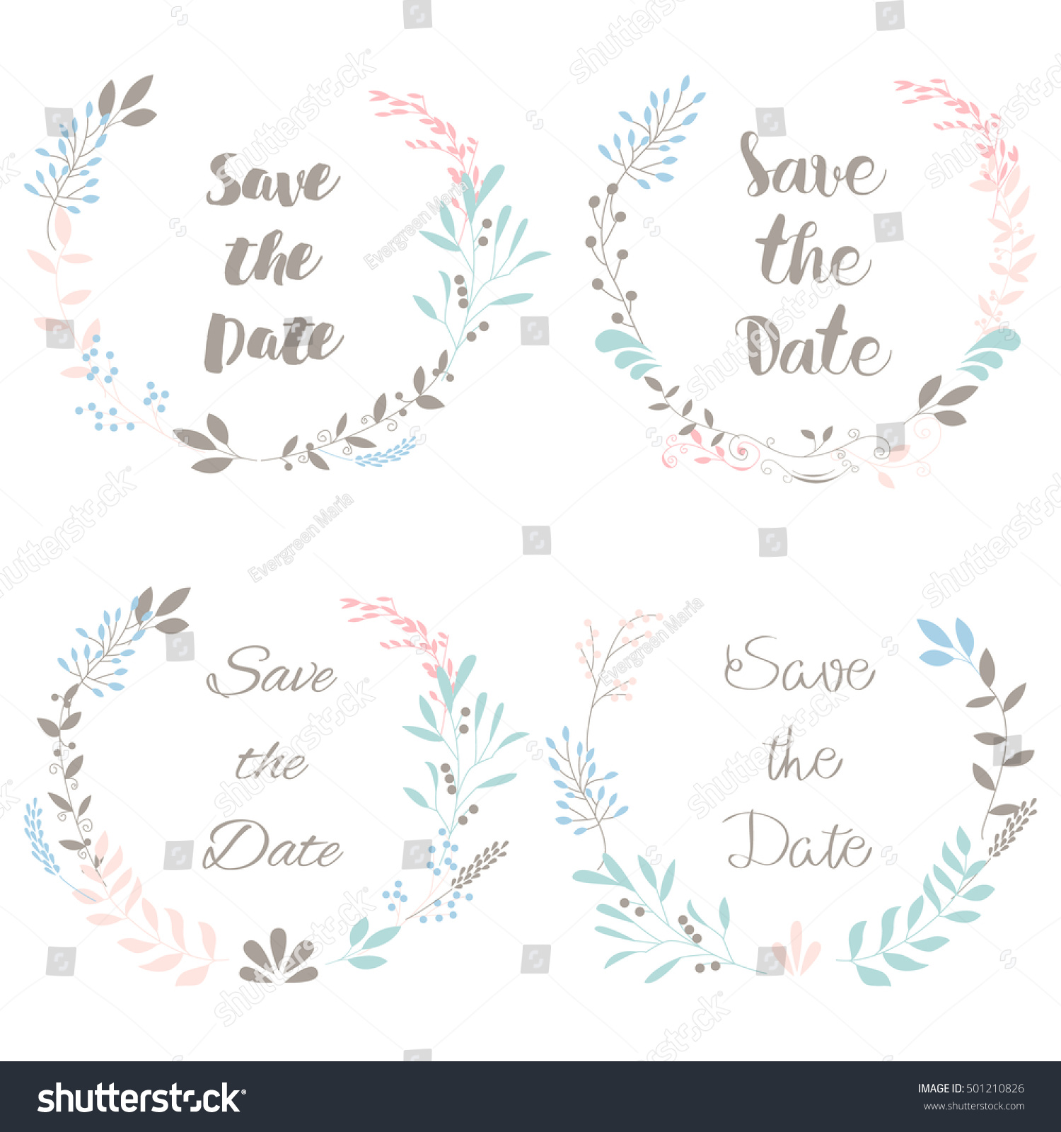 Rustic Vintage Pastel Template Design Layout Stock Vector