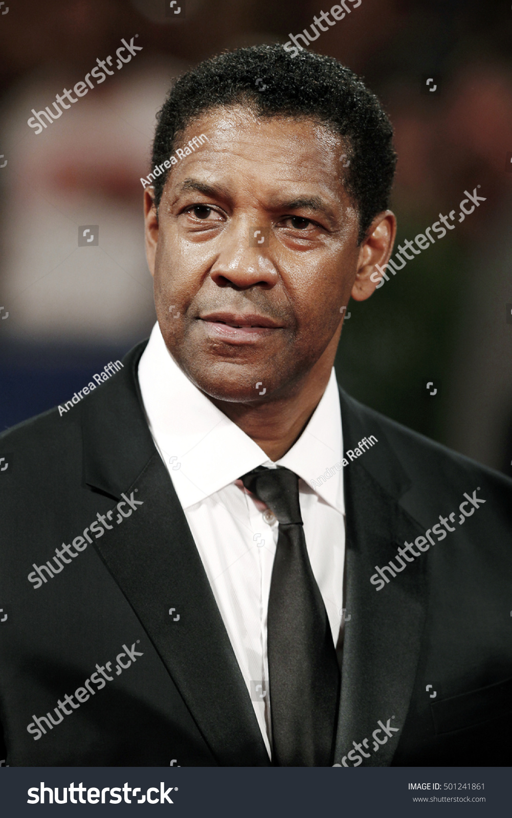 VENICE ITALY SEPTEMBER 10 Denzel Washington attends the premiere of The Magnificent Seven during the 73rd Venice Film Festival on September 10 2016 in Venice Italy