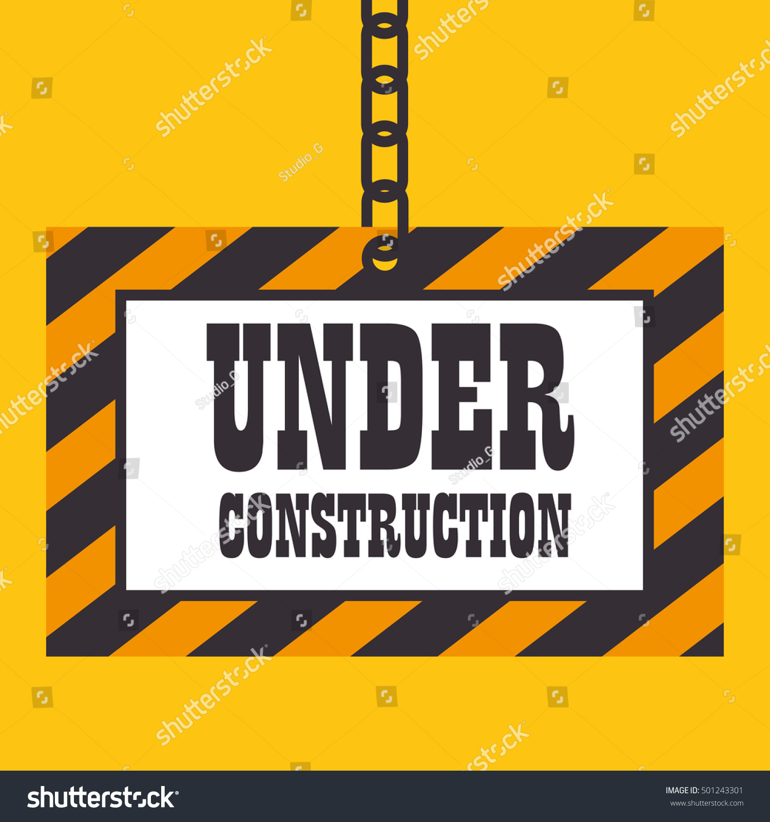 under construction template icon stock vector 501243301 shutterstock