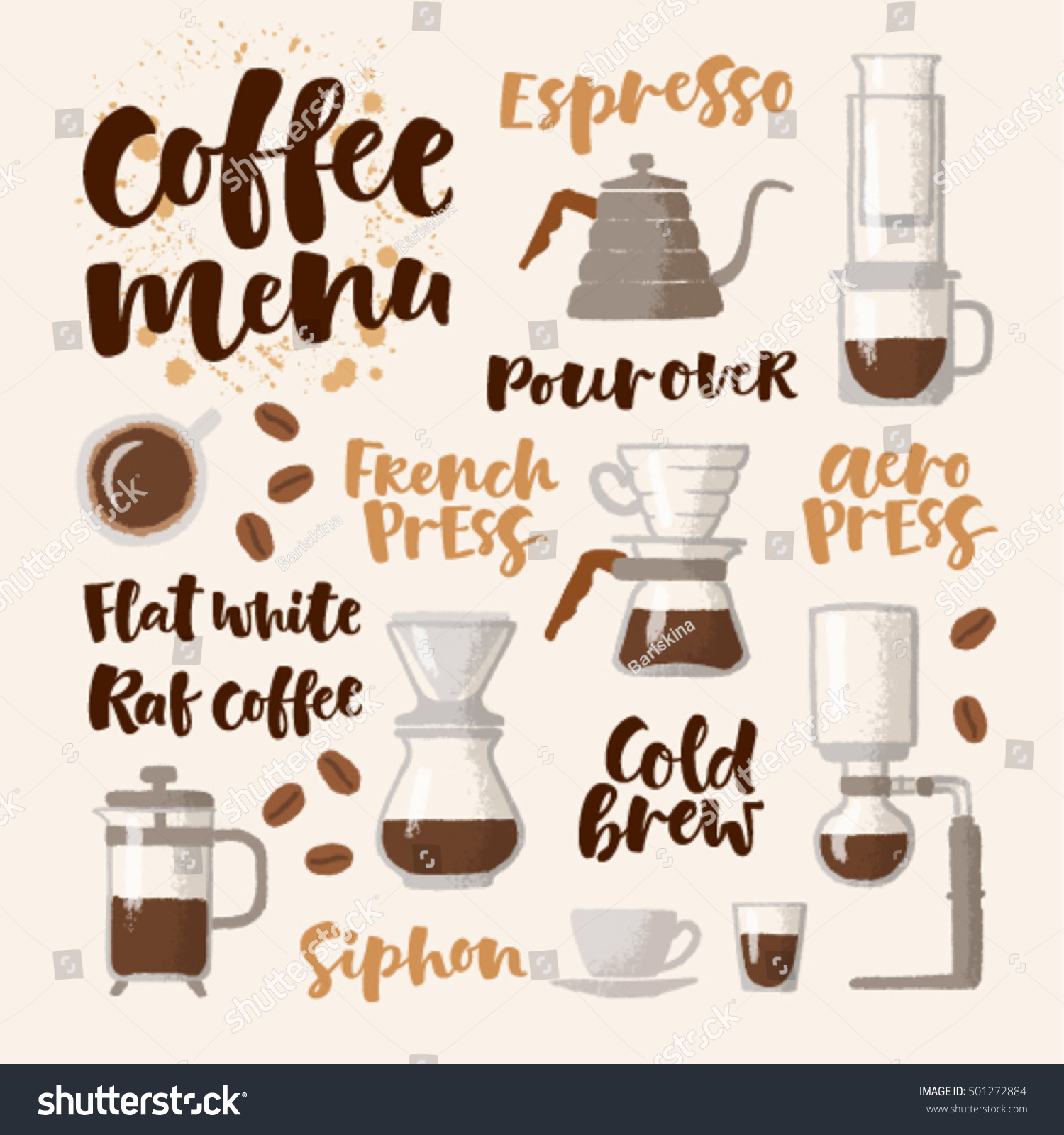 For restaurant pictures graphics illustrations clipart photos - Vector Handwritten Lettering Hand Drawn Graphic Illustration For Coffee Shop Market Cafe