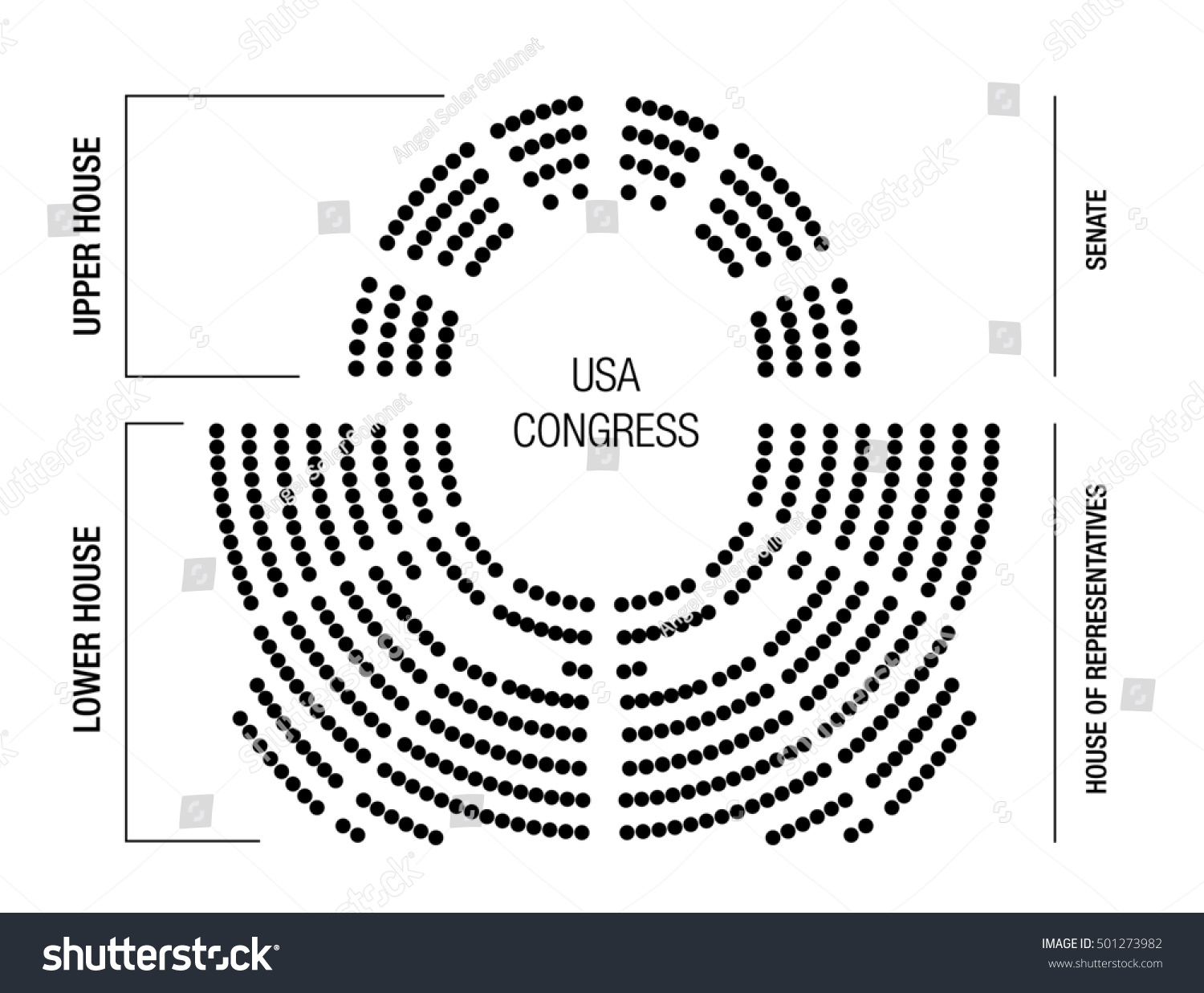 Editable Infographic Show Results Elections Seating Stock