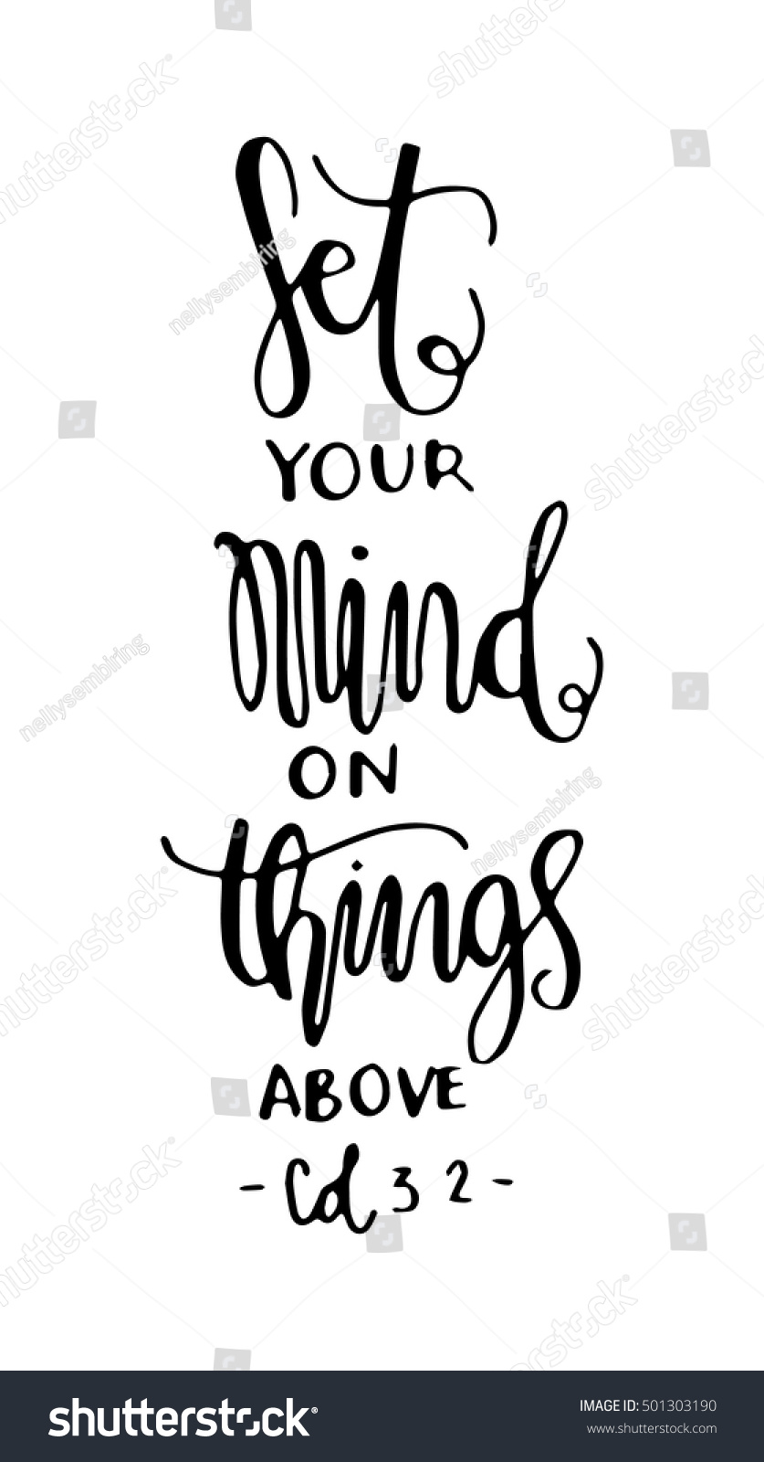 Set Your Minds On Things Above Stock Vector 501303190