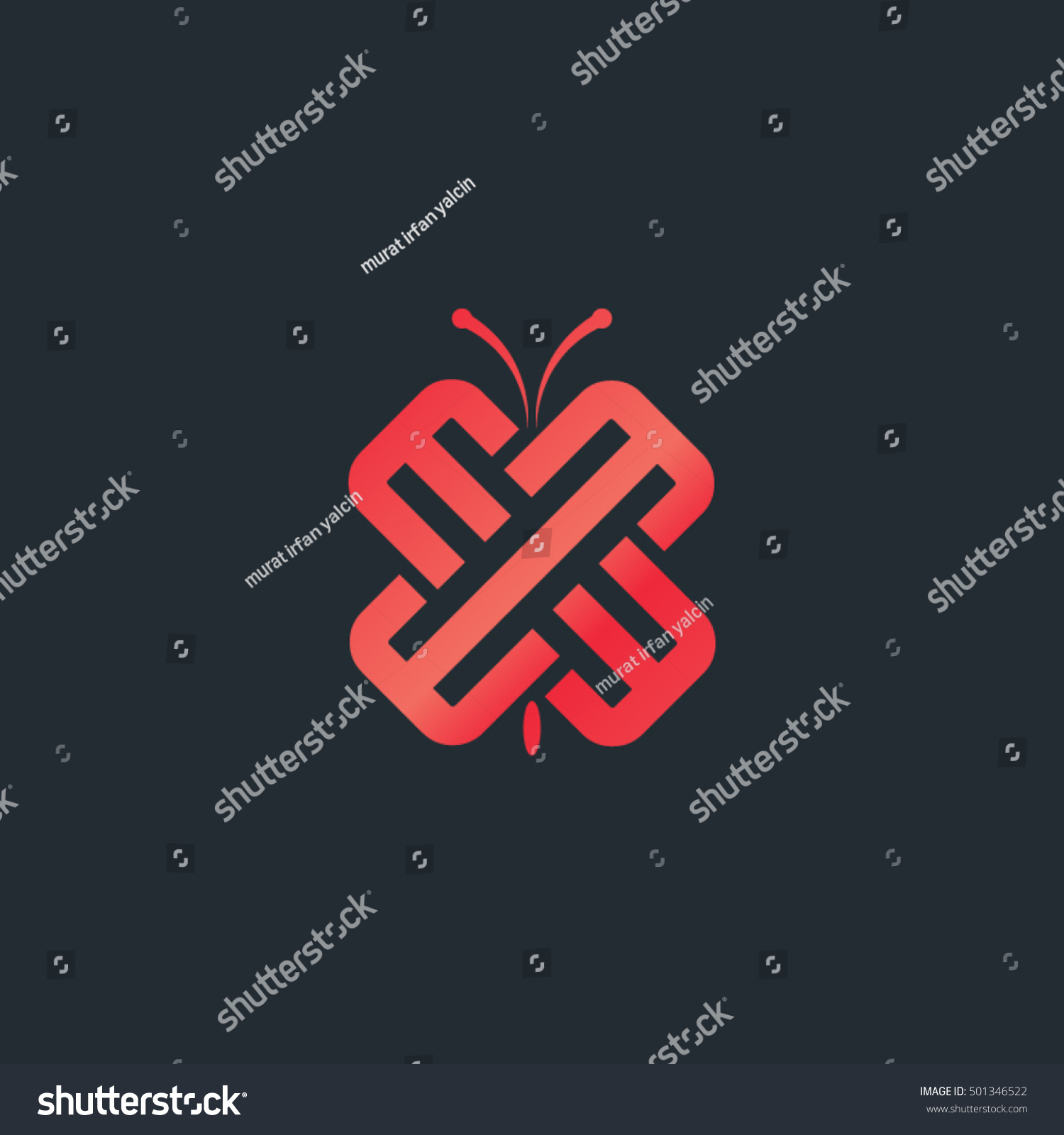 Consisting letters e butterfly looking symbol stock vector consisting of the letters e butterfly looking symbol design vector biocorpaavc Choice Image