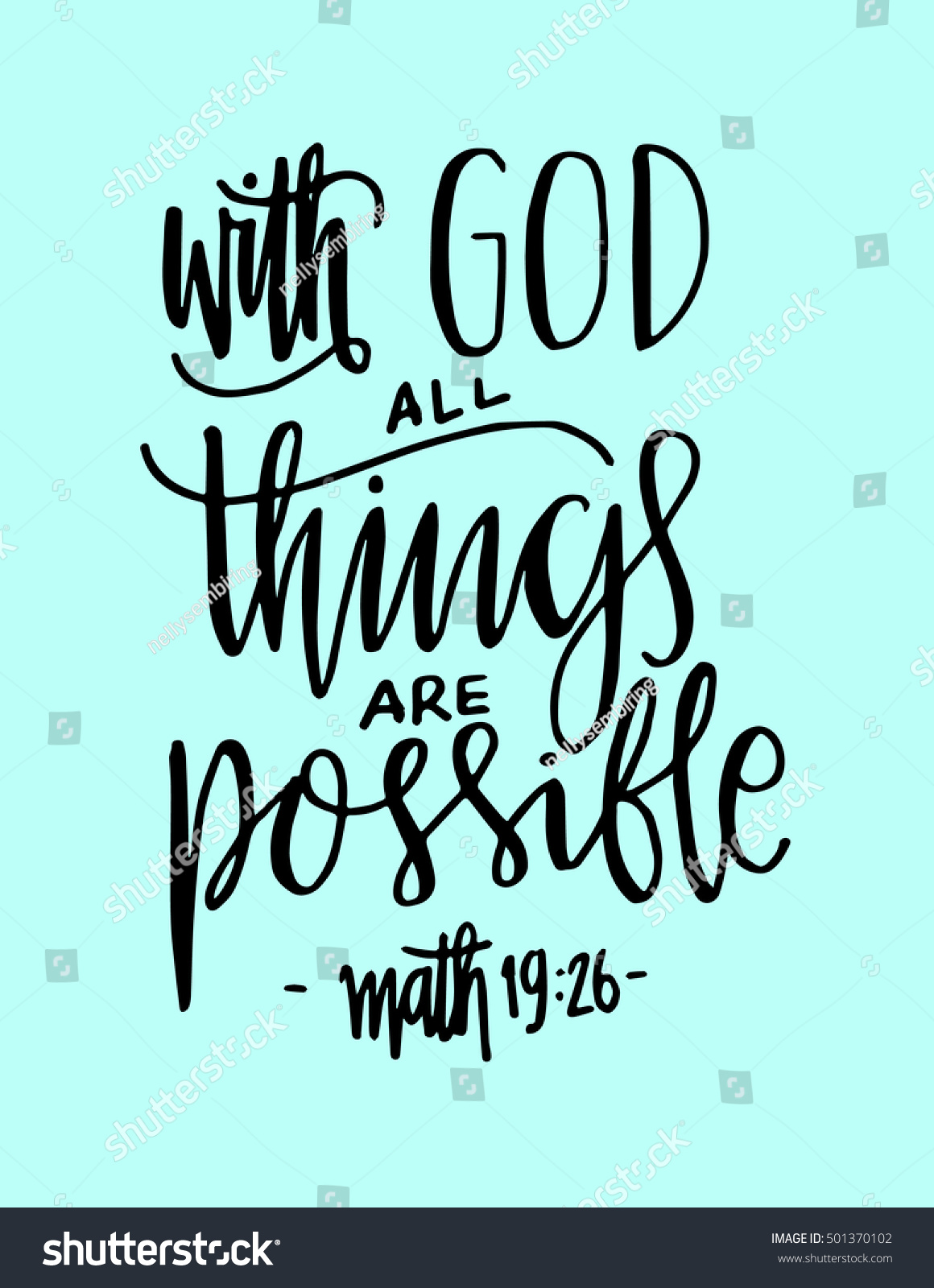 All Things Possible Quote Modern Calligraphy Stock Vector Royalty