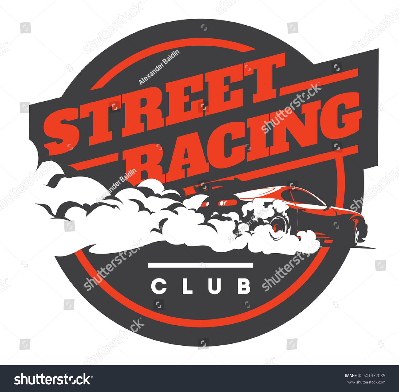 Car club sticker designs - Burnout Car Japanese Drift Sport Car Street Racing Jdm Racing Team