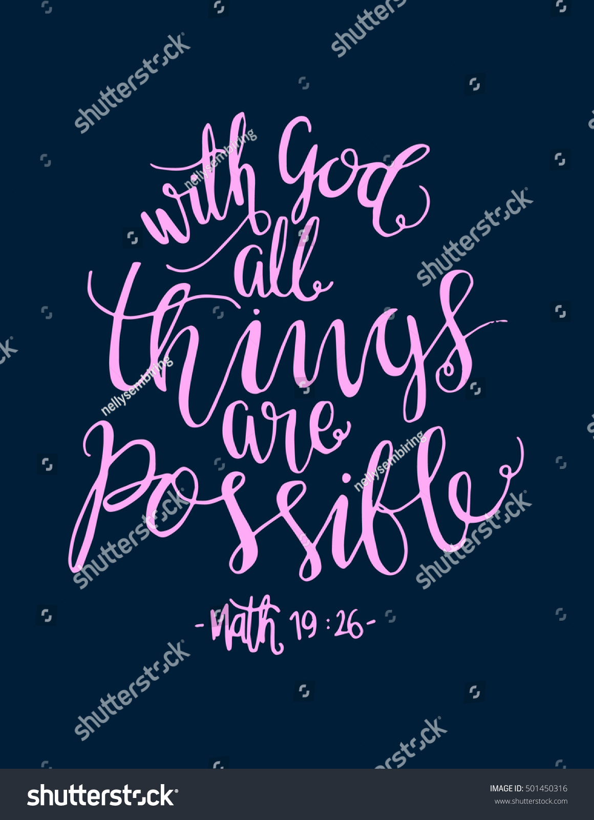 All things are possible quote modern calligraphy bible
