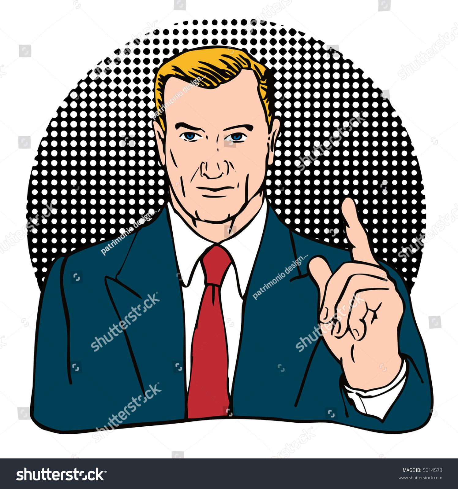 Businessman In Blue Suit Stock Photo 5014573 : Shutterstock