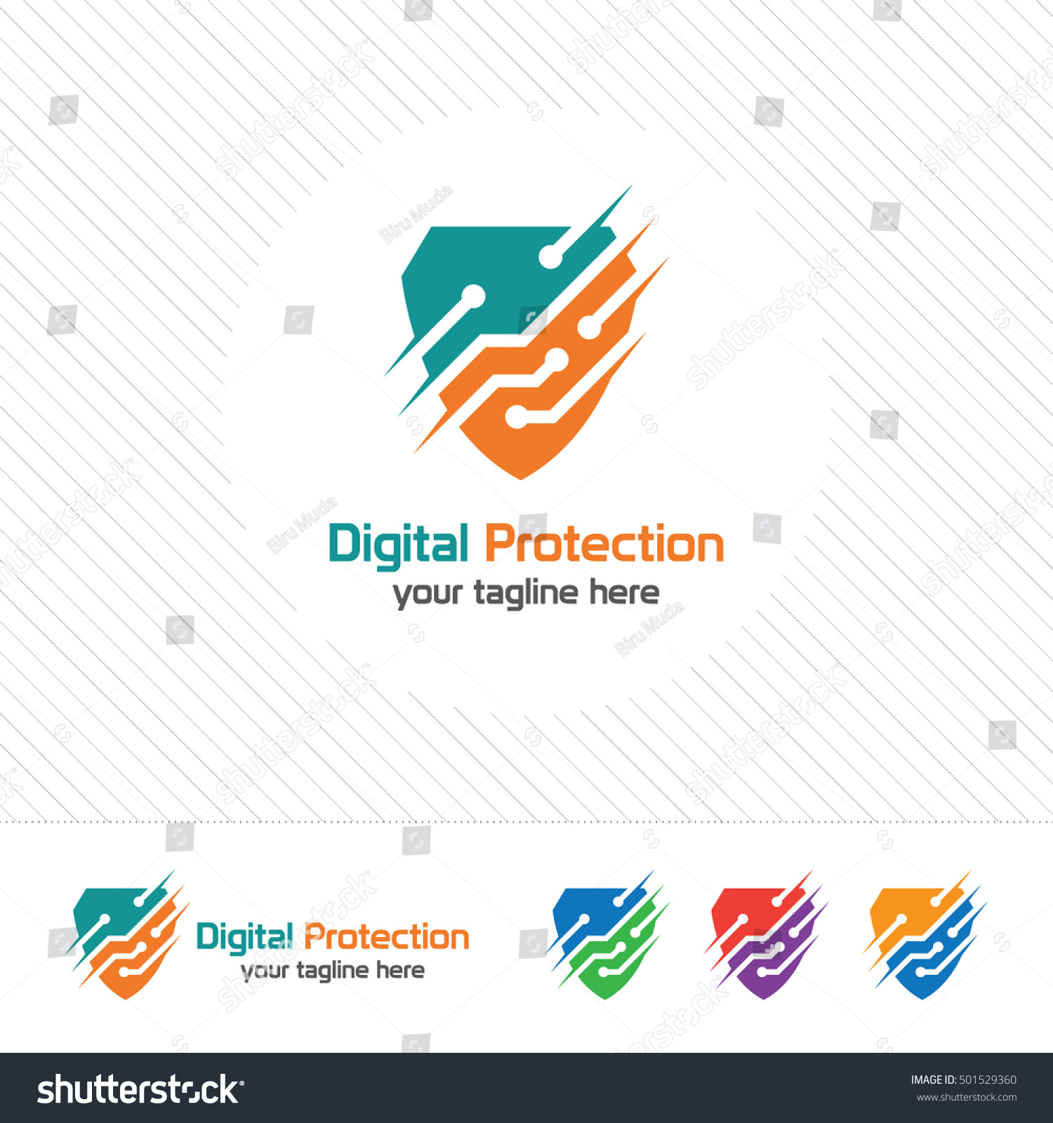 Shield security logo design vector Security guard symbol icon Protection shield vector with technology symbol