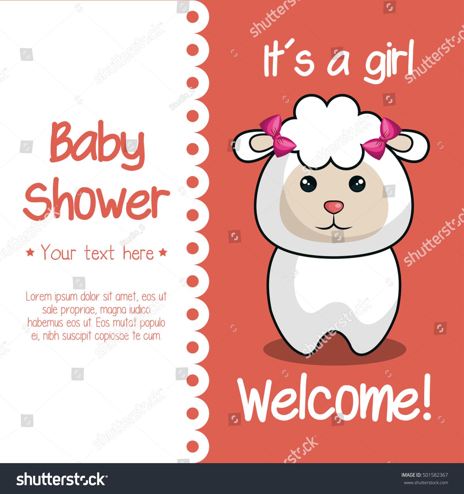 Baby Shower Invitation Cute Animal Stock Vector 501582367 - Shutterstock