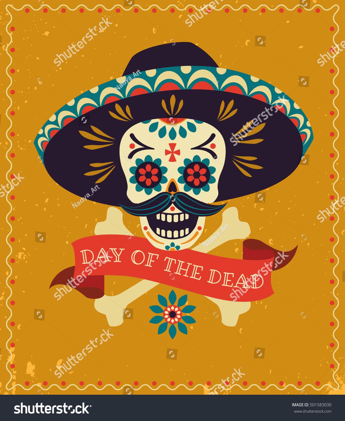 Dia De Los Muertos Day Dead Stock Vector (Royalty Free) 501583030 ...
