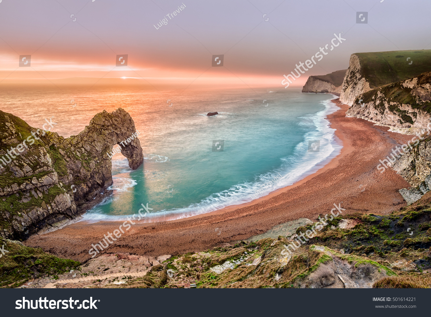 A long exposure of the fantastic Durdle door Dorset England. : durdle doors - pezcame.com