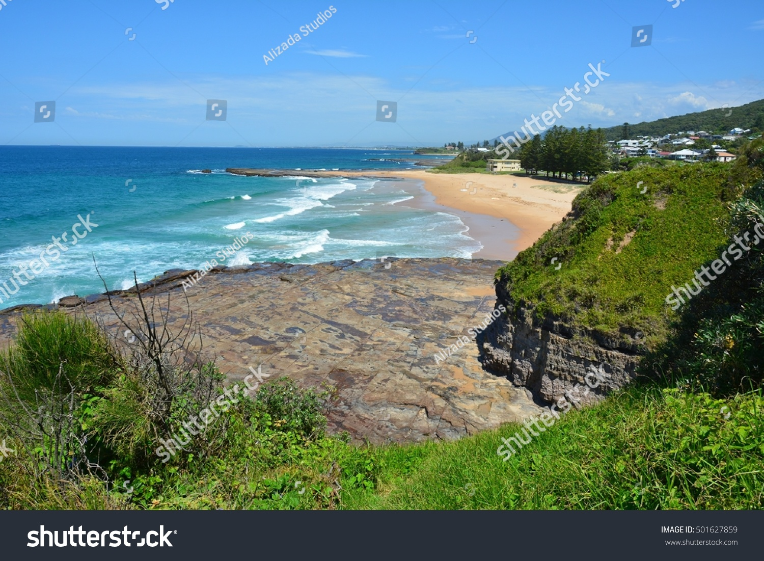 Pacific Coast Austinmer Beach Wollongong New Stock Photo (Edit Now ...