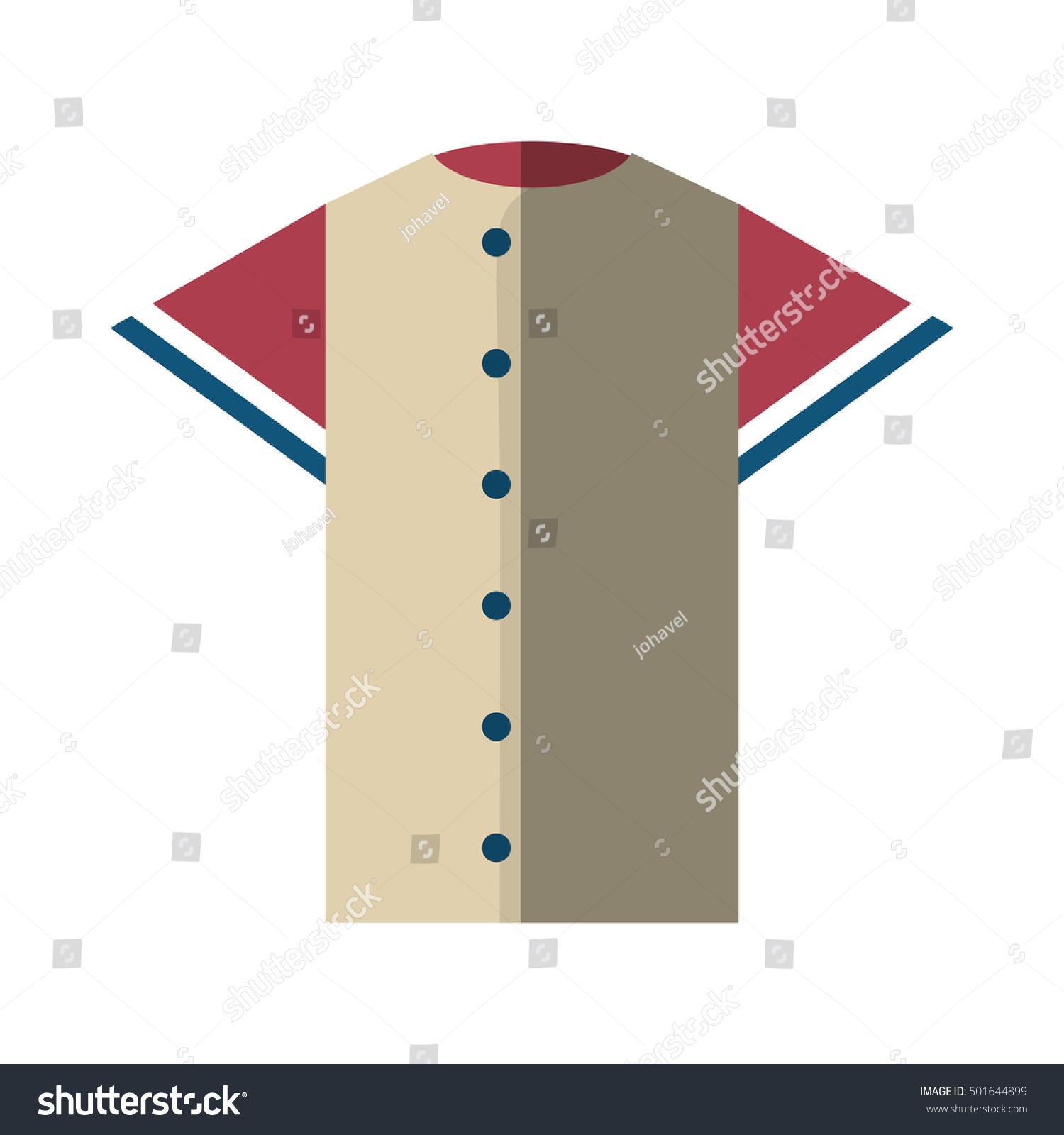 Shirt uniform design vector - Shirt Uniform Baseball Team Icon Vector Illustration Design