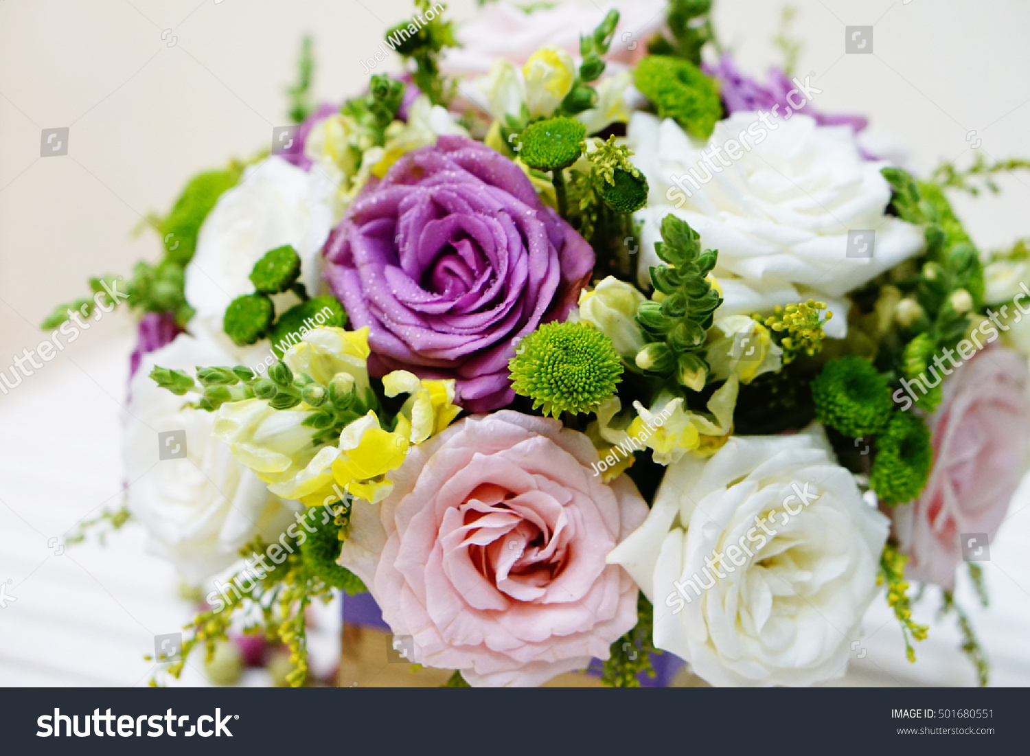 Bunch Roses Pink Roses White Roses Stock Photo Edit Now 501680551