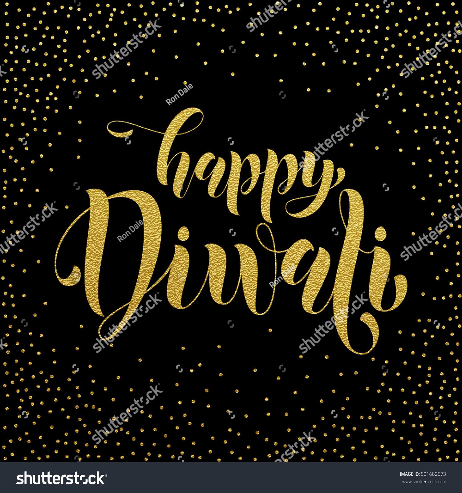 Happy diwali vector gold glittering text stock vector 501682573 happy diwali vector gold glittering text diwali or deepavali festival banner on black background kristyandbryce Gallery