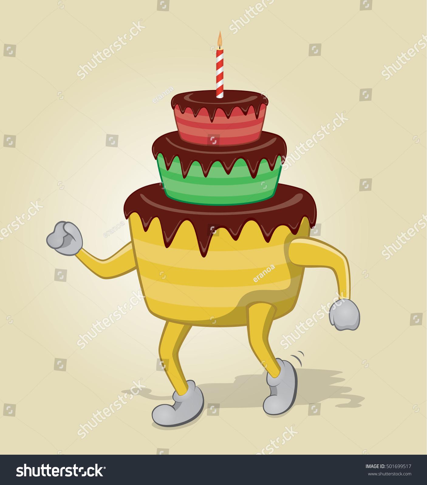 Tremendous Dancing Birthday Cake Stock Vector Royalty Free 501699517 Personalised Birthday Cards Cominlily Jamesorg