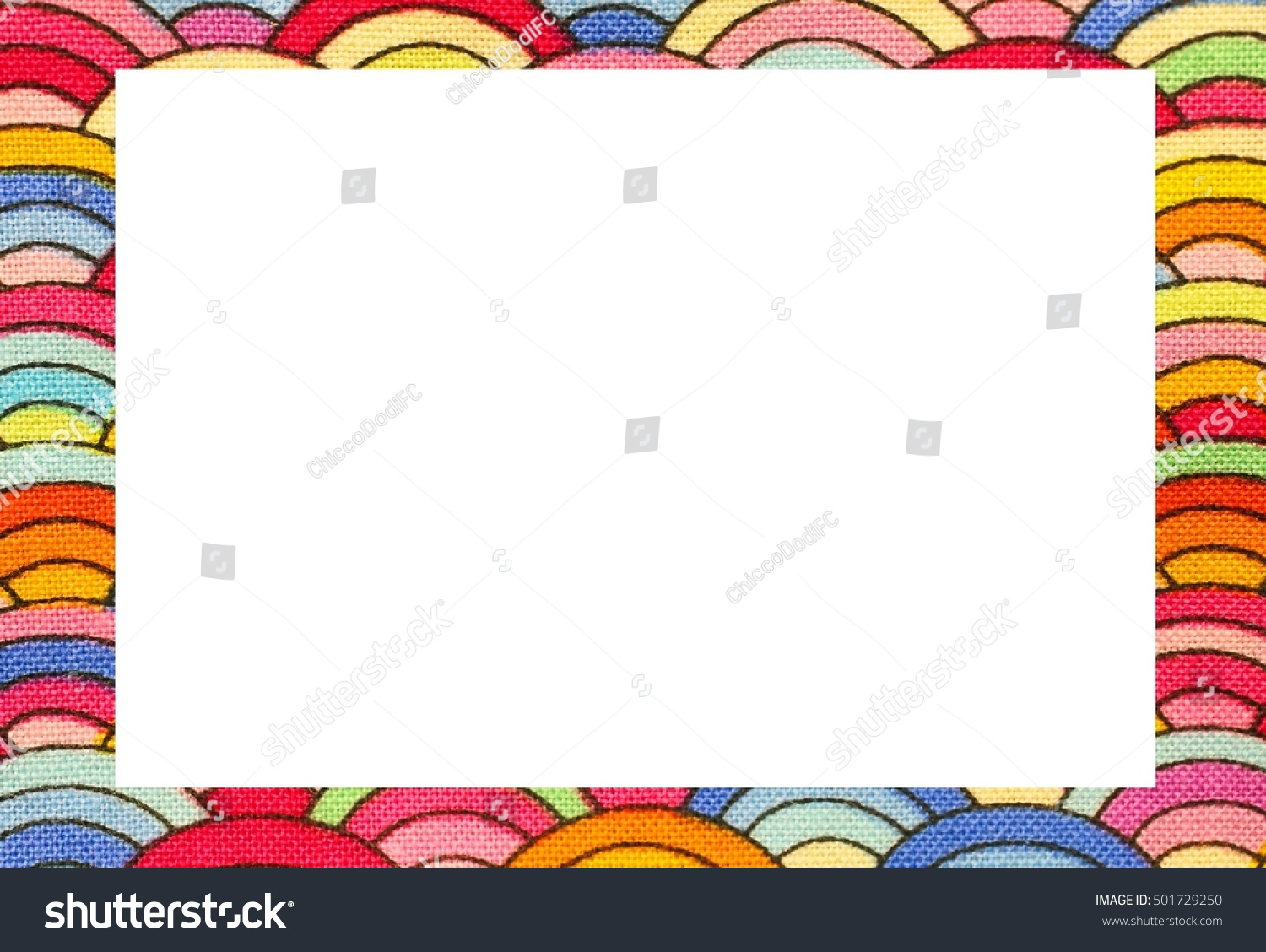 Rainbow Nice Frame Blanck Space Write Stock Photo 501729250 ...