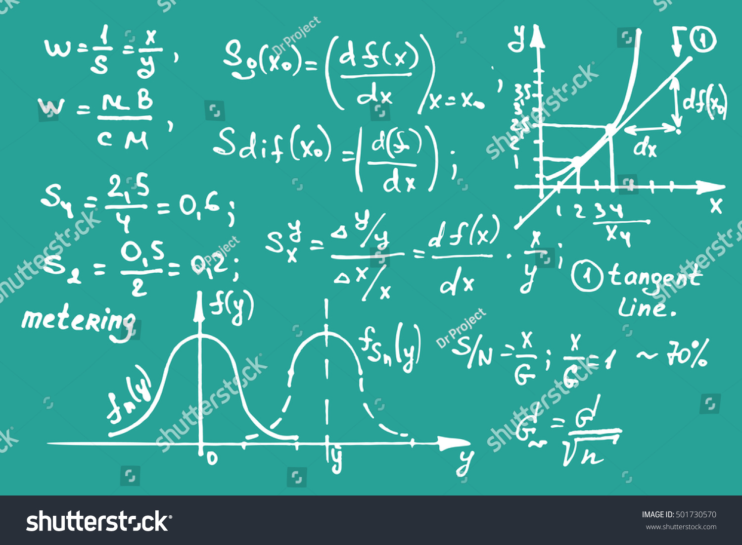 Maths Equations On School Board Vector Stock Vector (Royalty Free ...