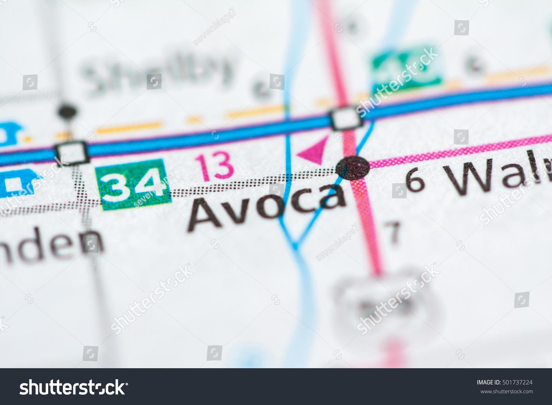 Avoca Iowa Map.Avoca Iowa Usa Stock Photo Edit Now 501737224 Shutterstock