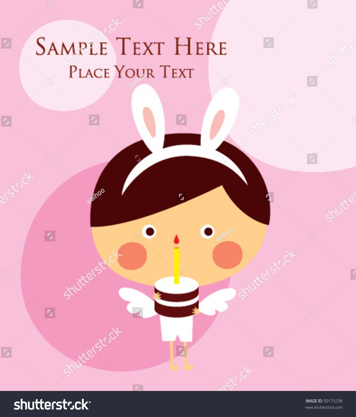 Angel birthday greeting card ez canvas m4hsunfo