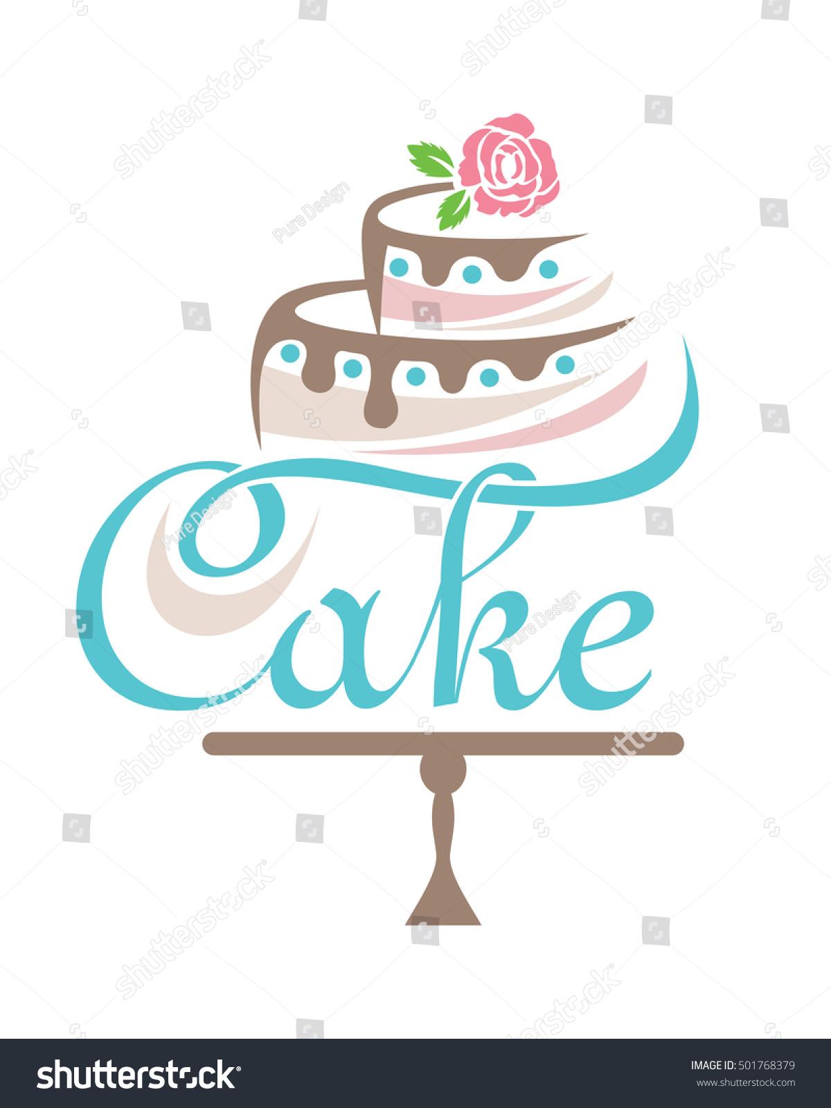 Cake Logo Stock Vector 501768379 - Shutterstock