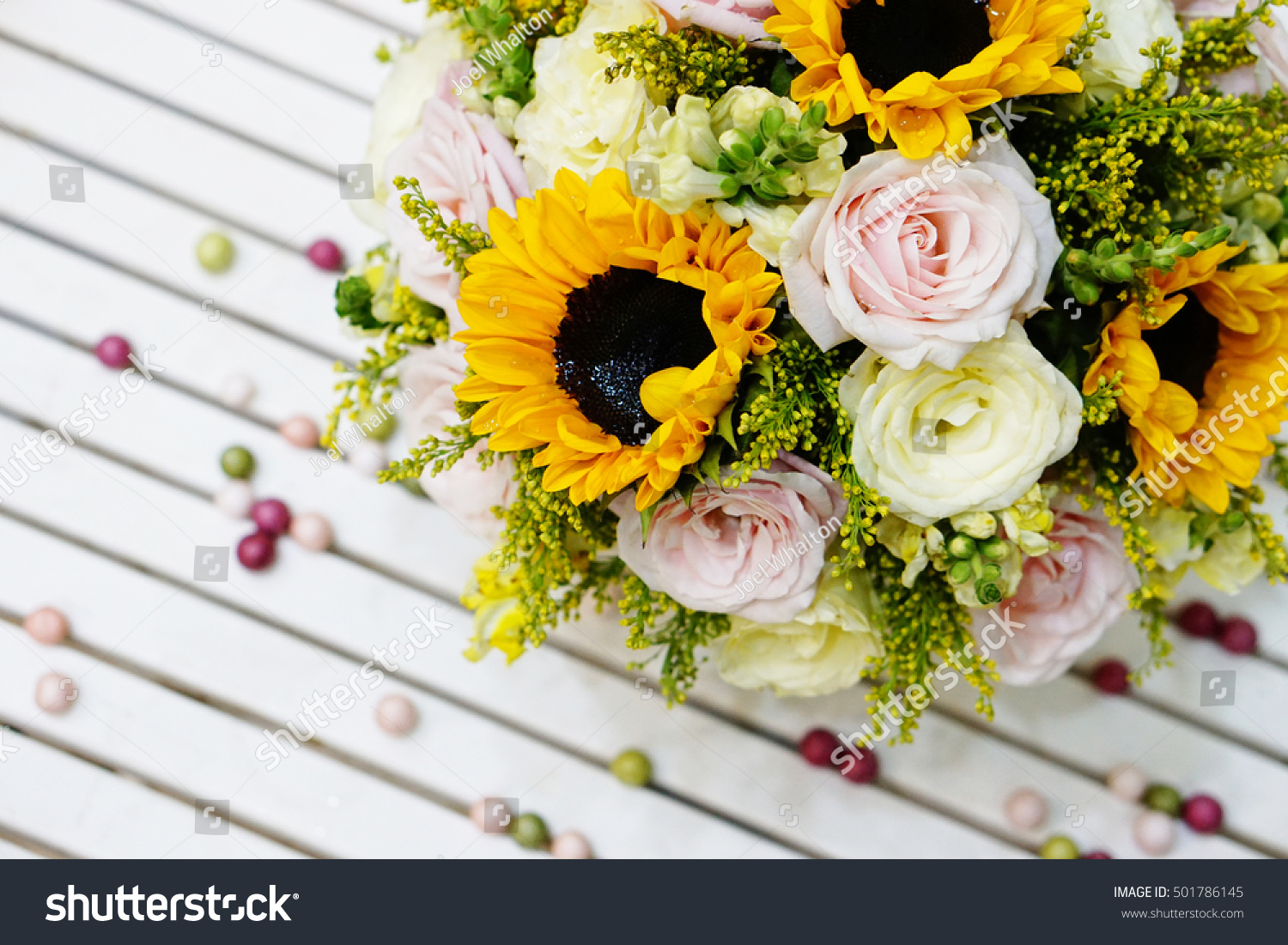 Bunch Roses Pink Roses Yellow Roses Stock Photo Royalty Free