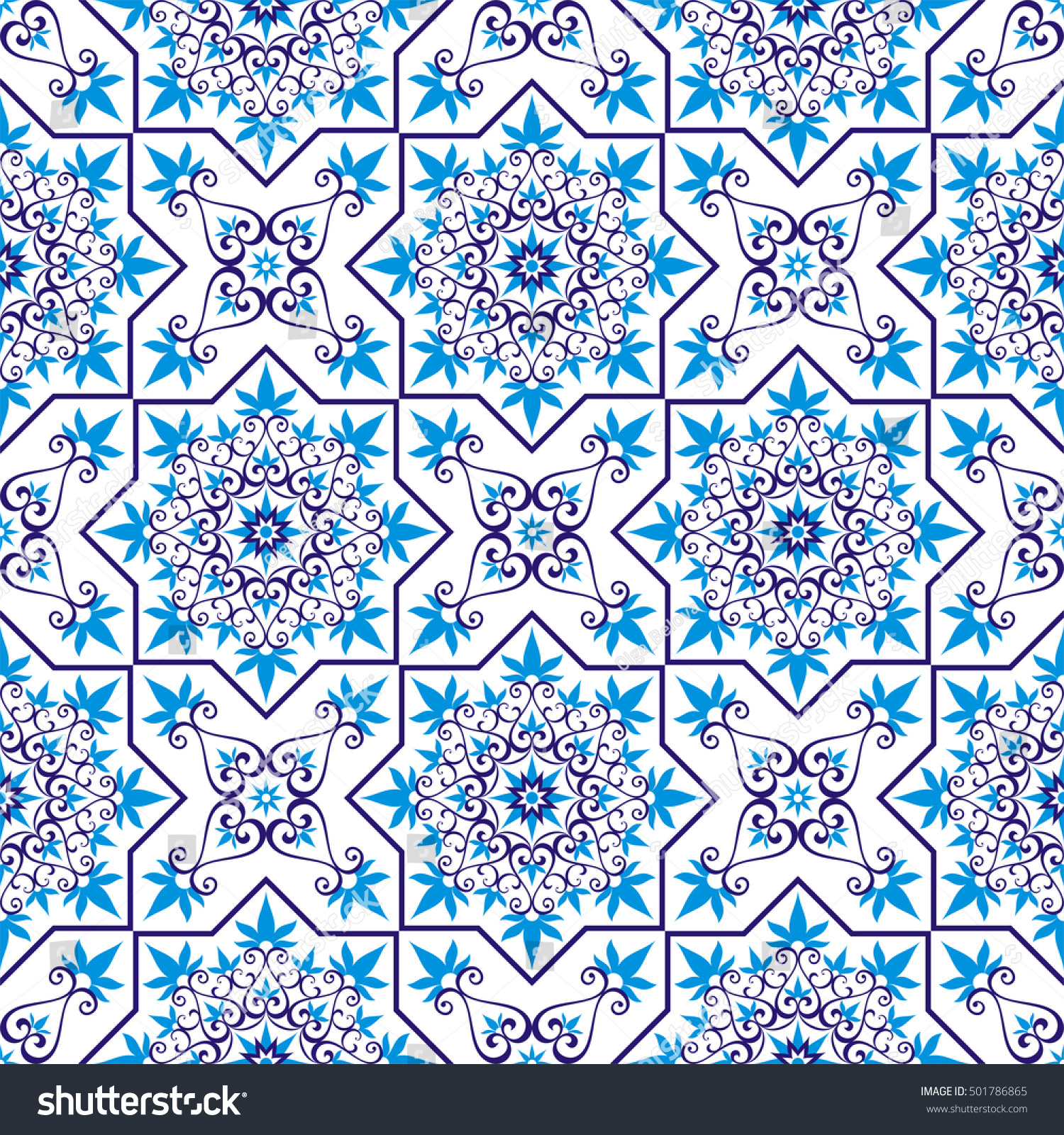 Arabesque pattern moorish style seamless texture stock for Arabesque style decoration