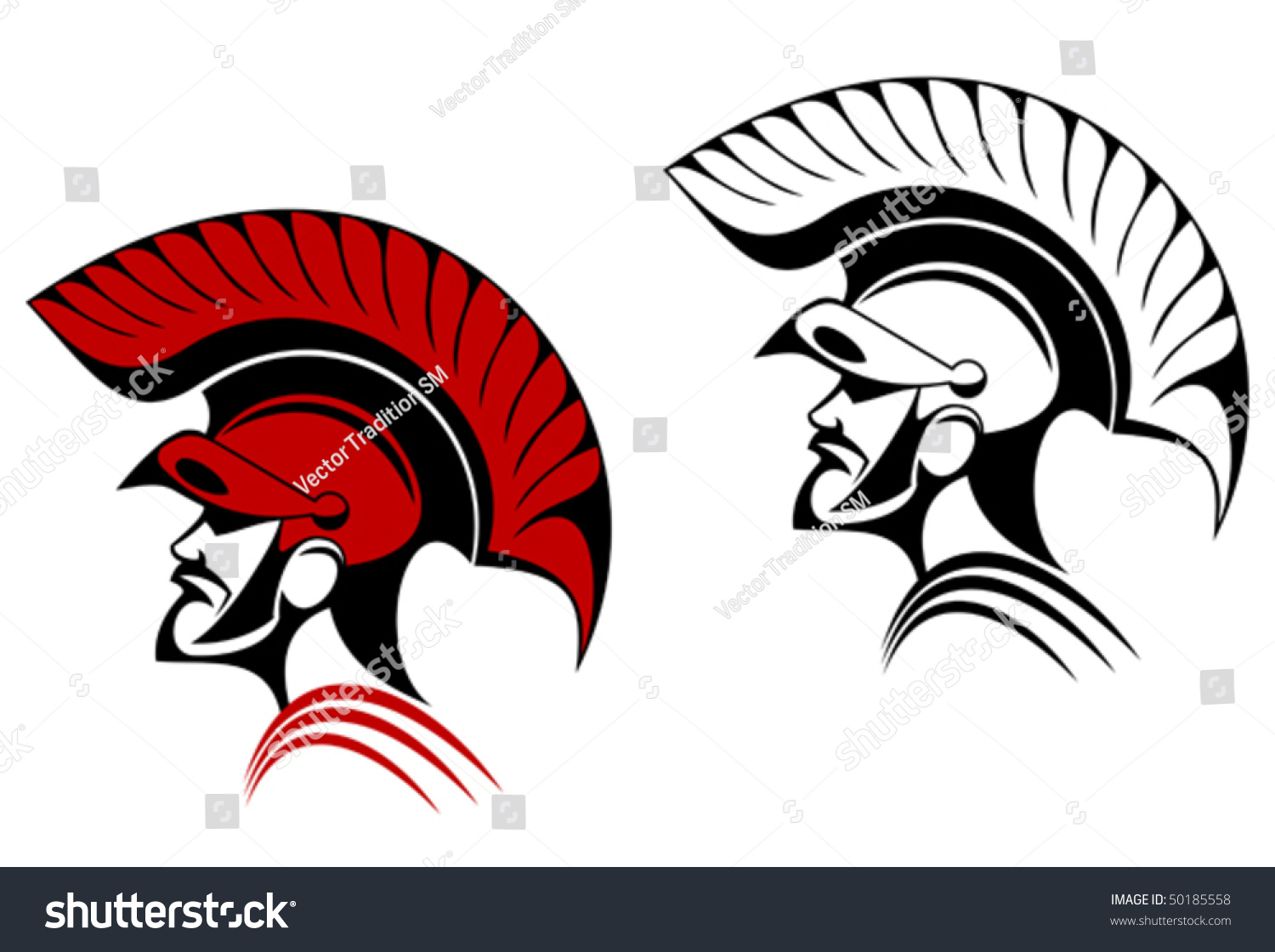 Ancient Warrior Symbol Concept Security Power Stock Vector Royalty