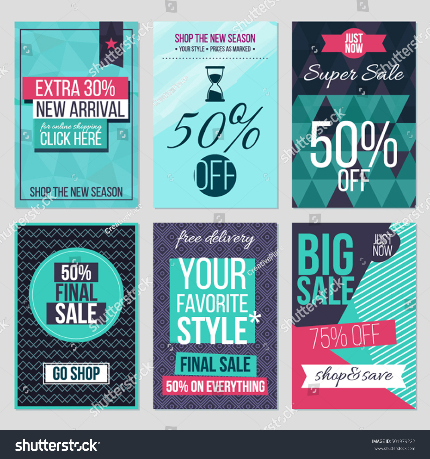 set of abstract flat cards and banners for season mid season set of abstract flat cards and banners for season mid season discounts