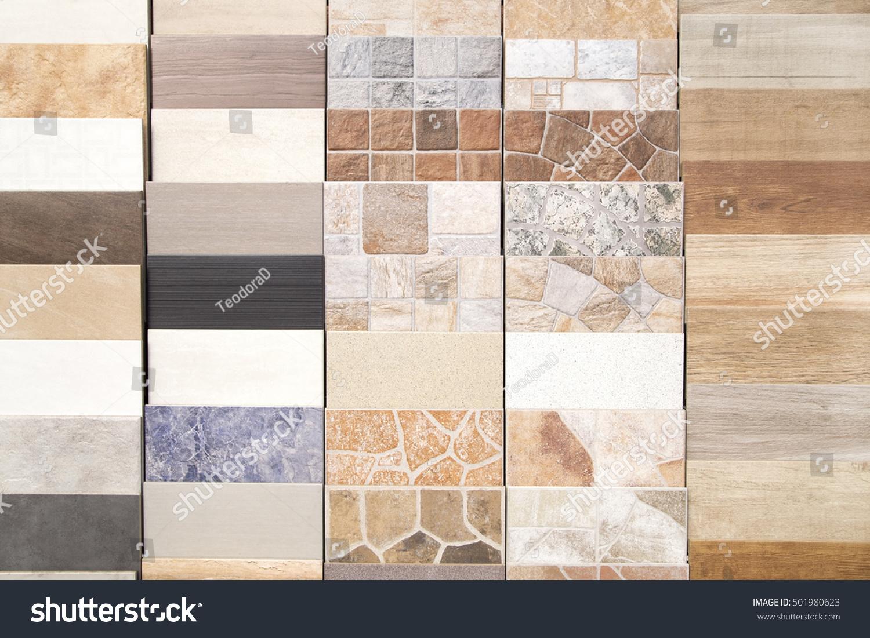 Various Ceramic Tiles Samples Stock Photo Edit Now 501980623