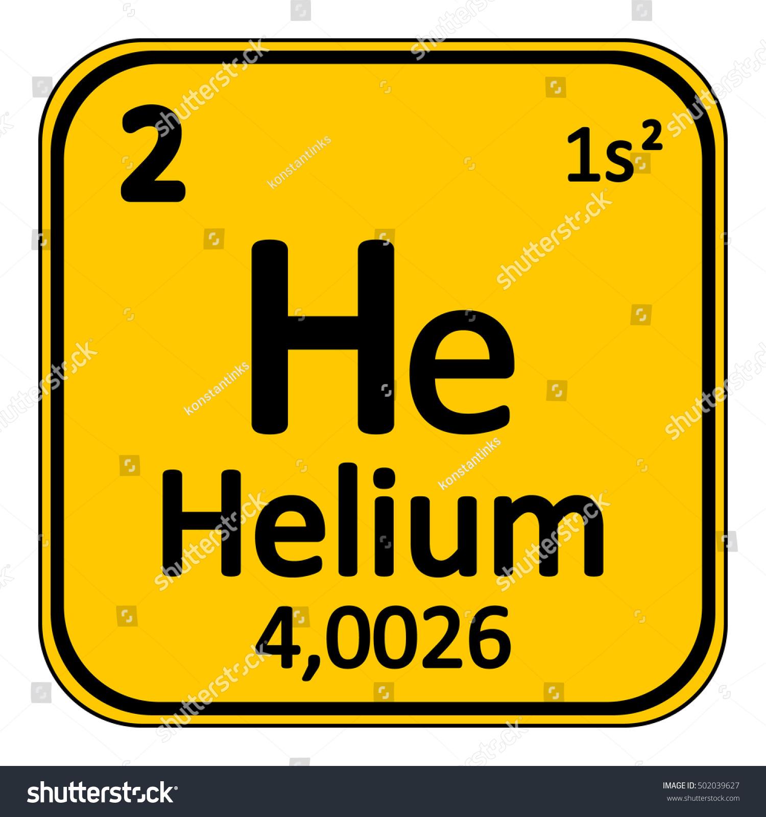 Periodic Table Element Helium Icon On Stock Vector 502039627 ...