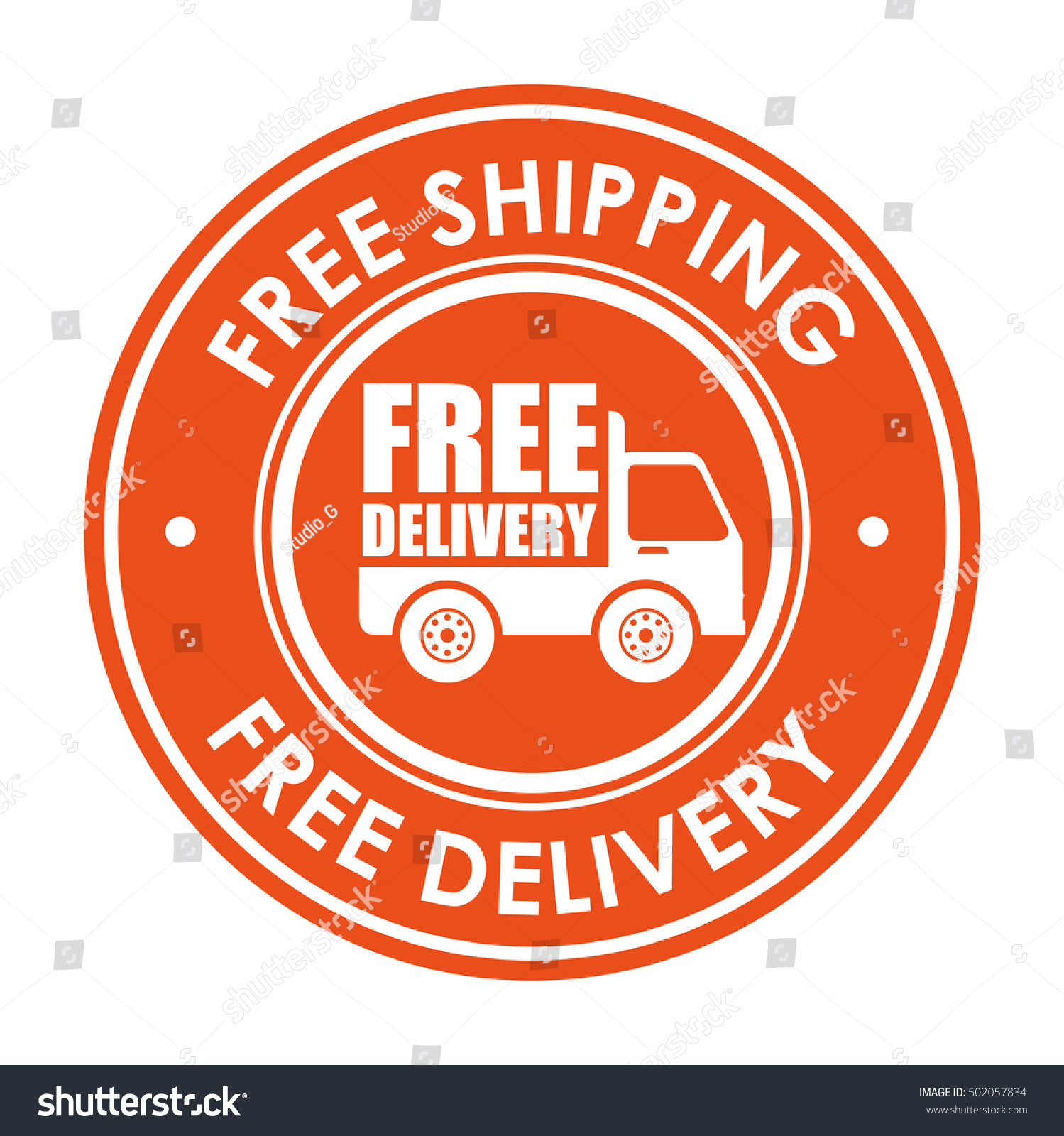 Shipping Delivery: Sign Free Shipping Delivery Truck Icon Stock Vector
