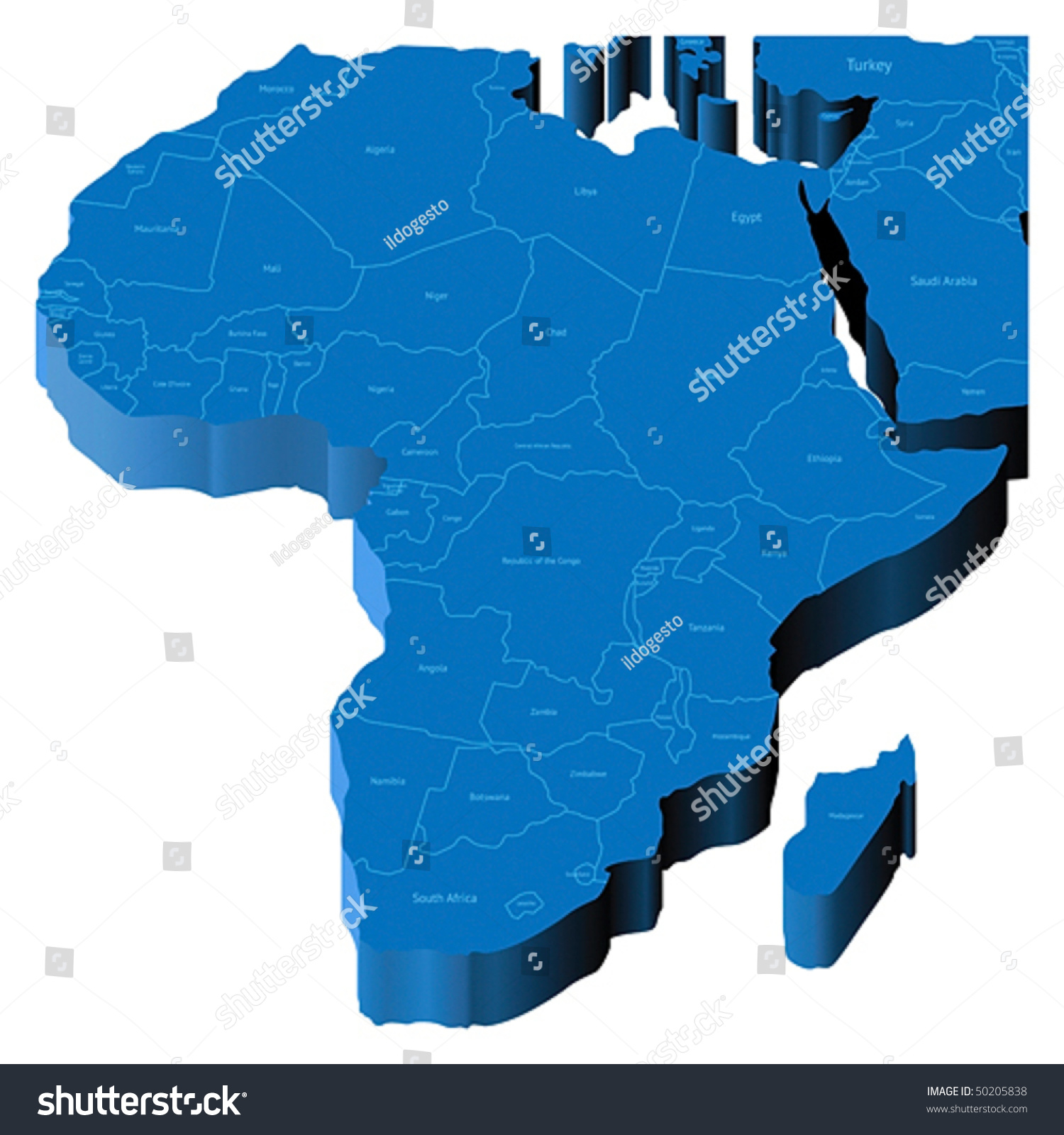 Map africa national borders country names vectores en stock 50205838 map of africa with national borders and country names pseudo 3d vector illustration gumiabroncs Image collections