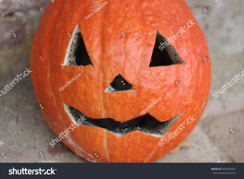 funny halloween pumpkin faces stock photo (edit now) 502070053