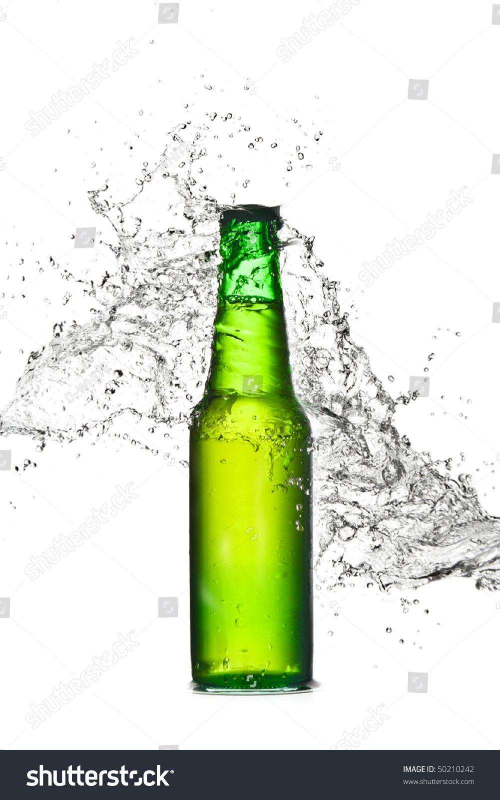 beer bottle fresh splash stock photo 50210242 shutterstock. Black Bedroom Furniture Sets. Home Design Ideas
