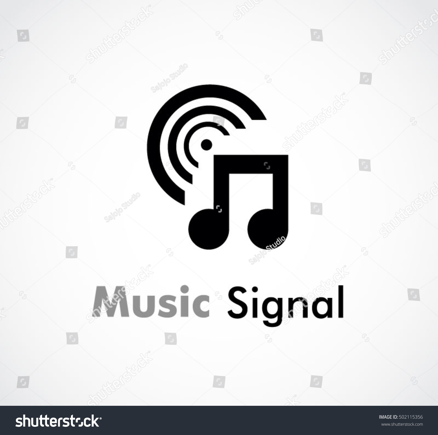 Music signal song abstract vector logo stock vector 502115356 music signal of song abstract vector and logo design or template tone business icon of company buycottarizona