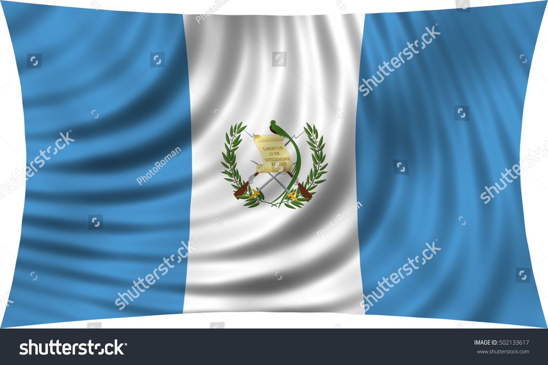 Guatemalan National Official Flag Patriotic Symbol Banner Element