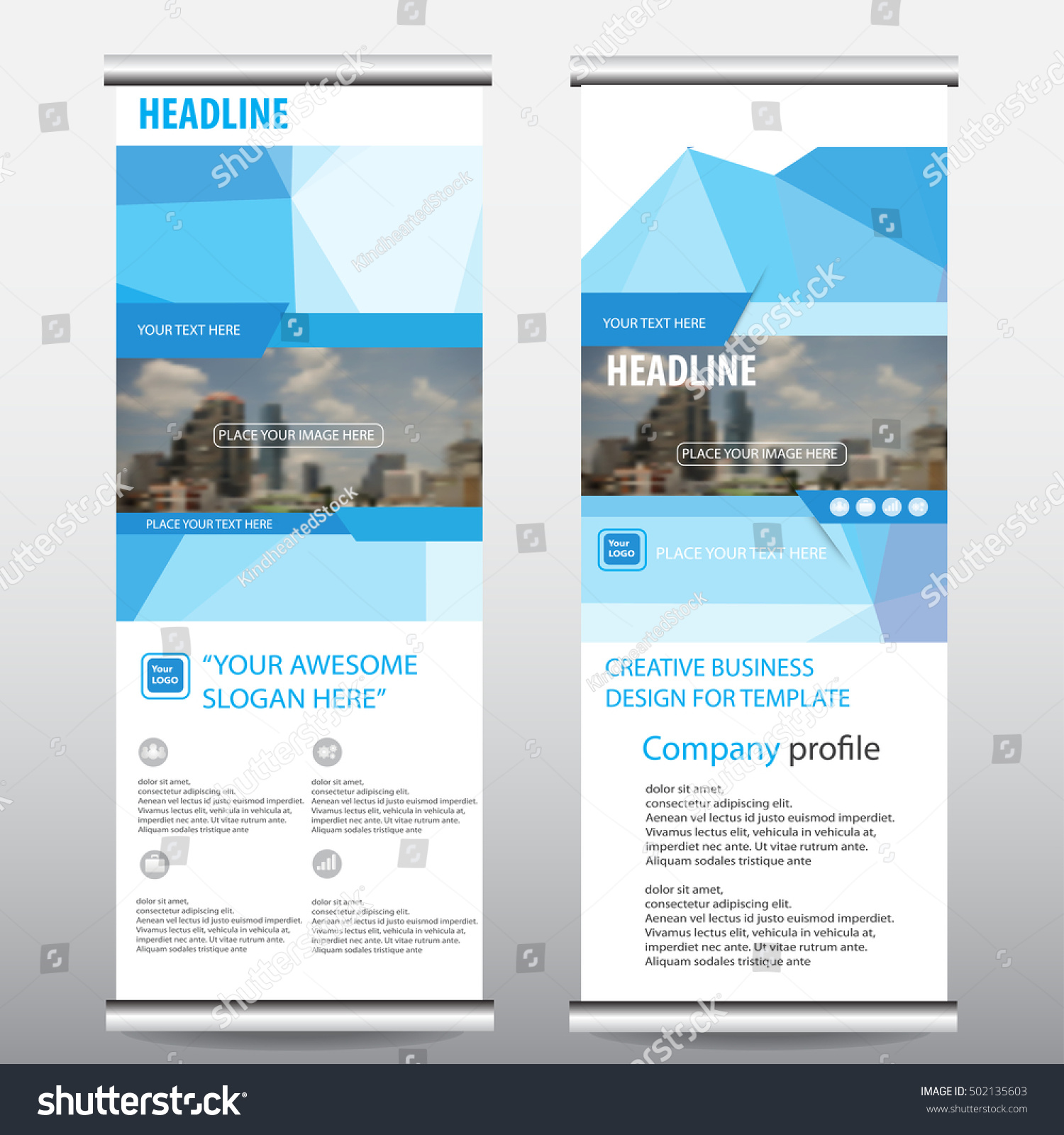 Green roll up business brochure flyer banner design vertical template - Blue Green Roll Up Business Brochure Flyer Banner Design Vertical Template Vector Cover Presentation Abstract