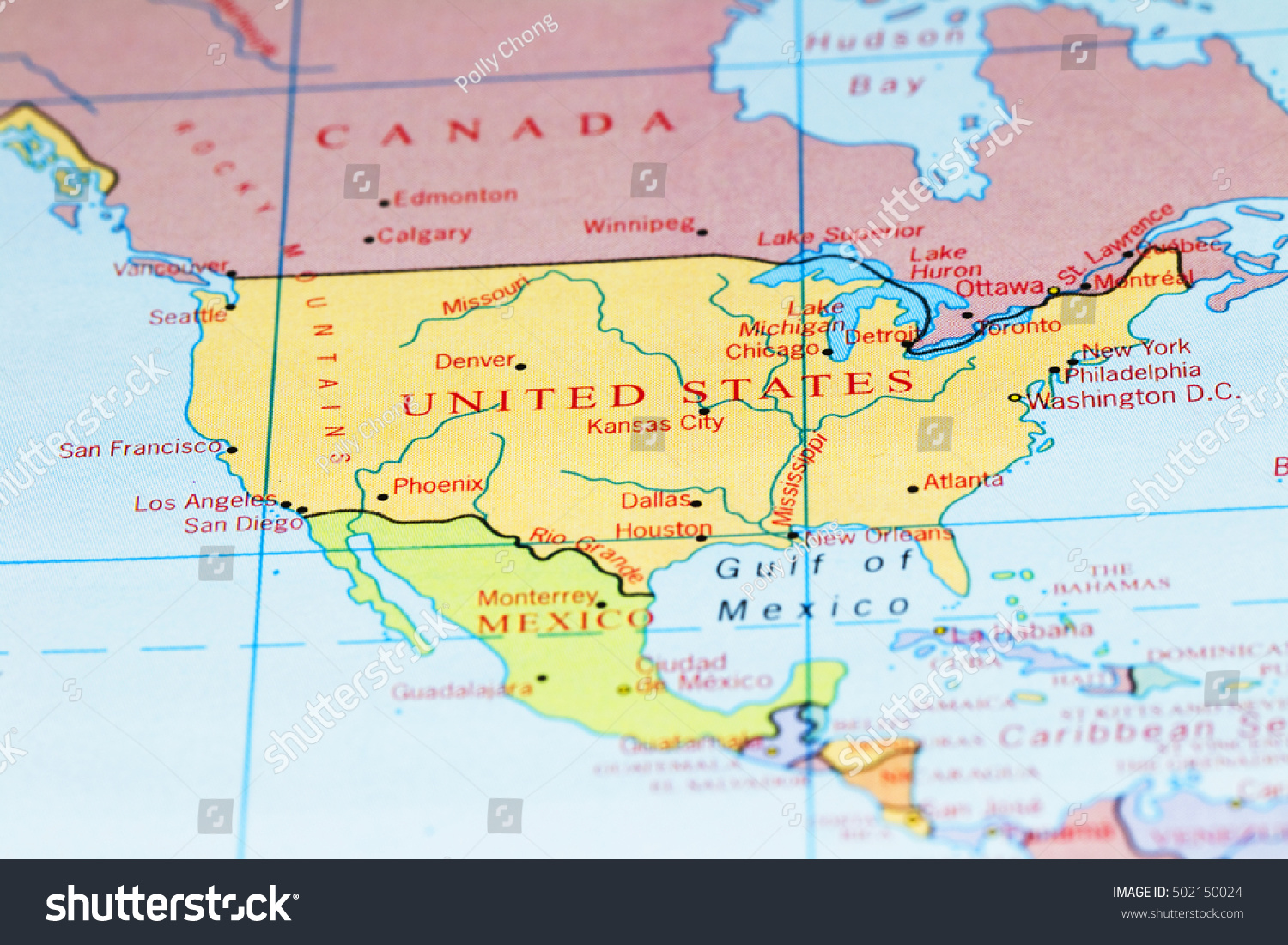 World Map Usa And Canada Usa Canada Large Detailed Political Map