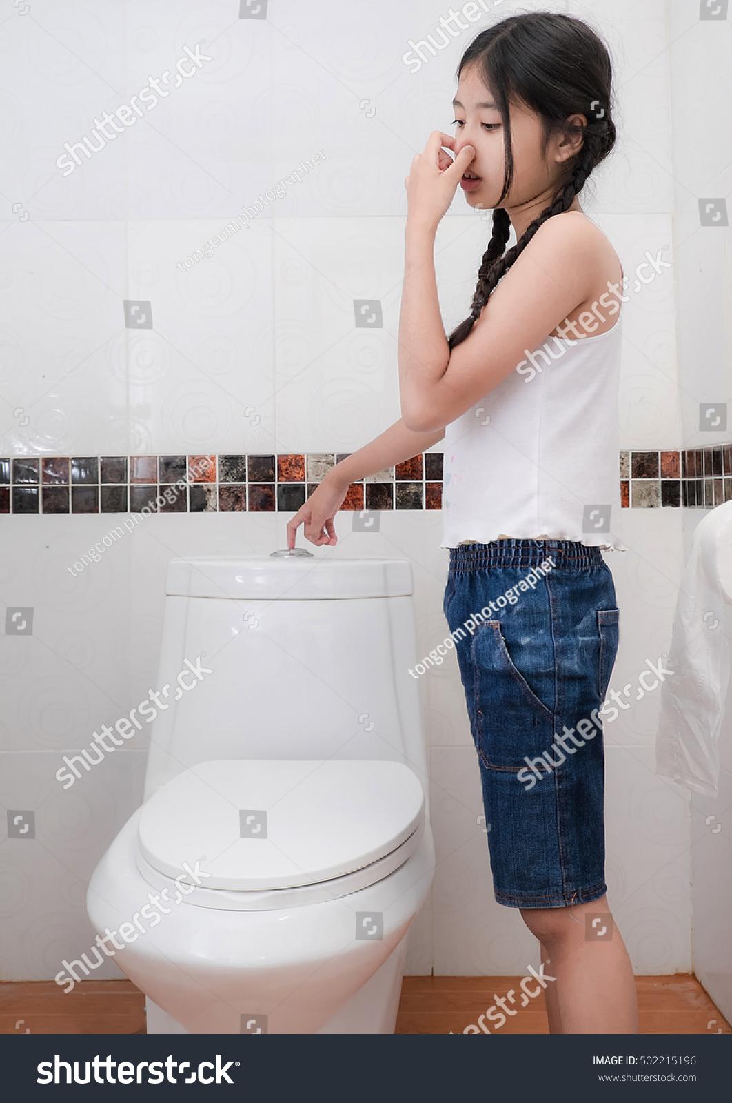 Beautiful Girl On Toilet Stock Photo 502215196 Shutterstock