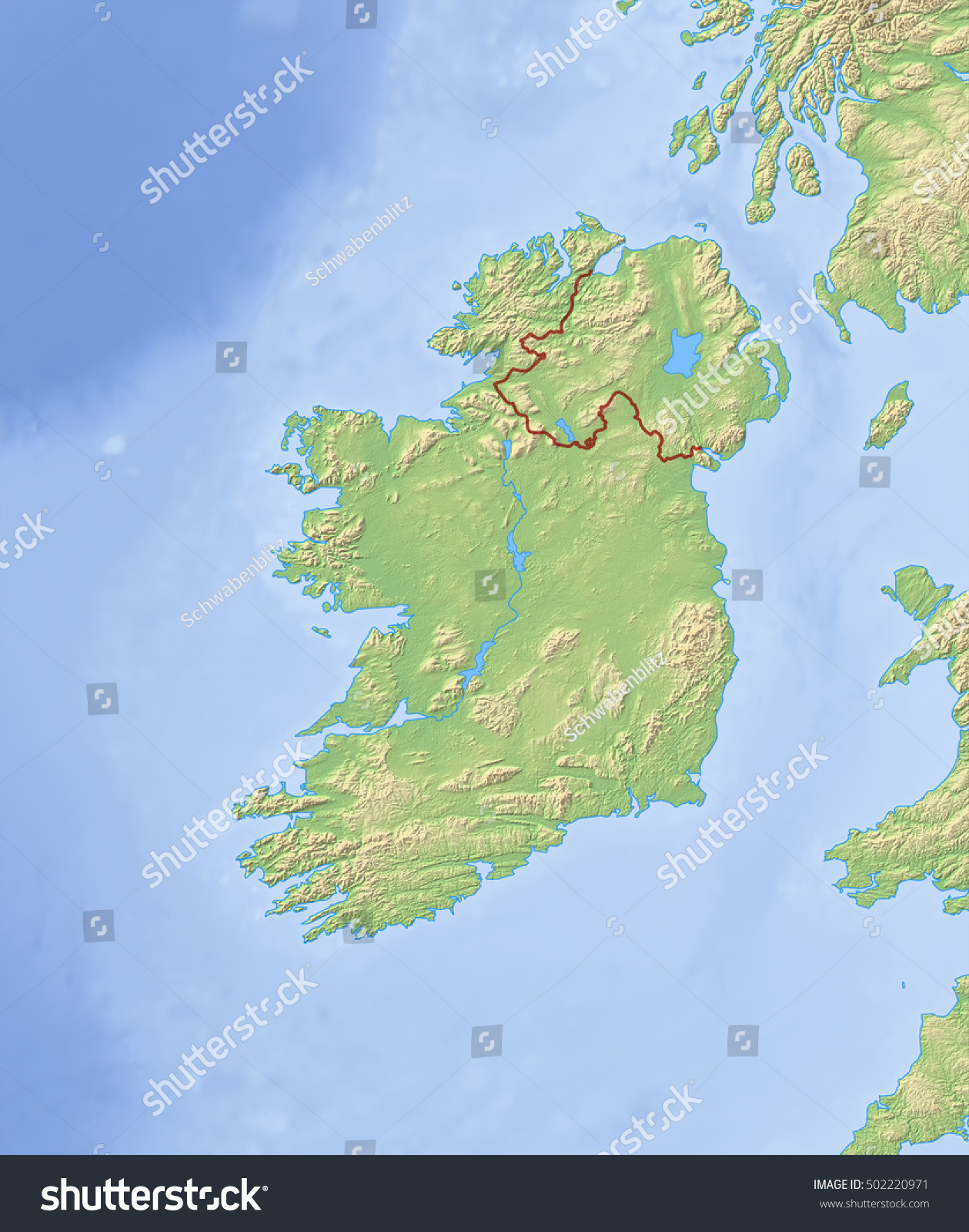 Physical Map Of Ireland Goolgle Maps Map Of England - Ireland physical map