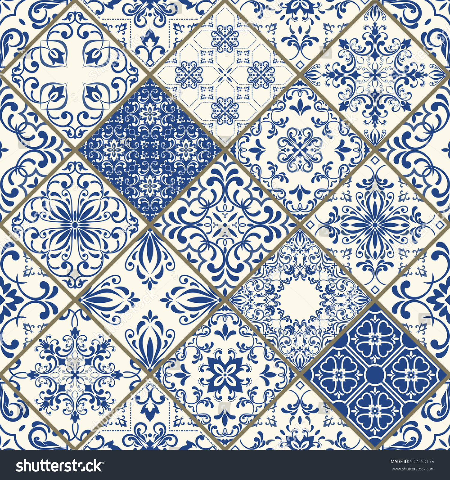 Royalty-free Vintage seamless pattern in Portugal… #502250179 Stock ...