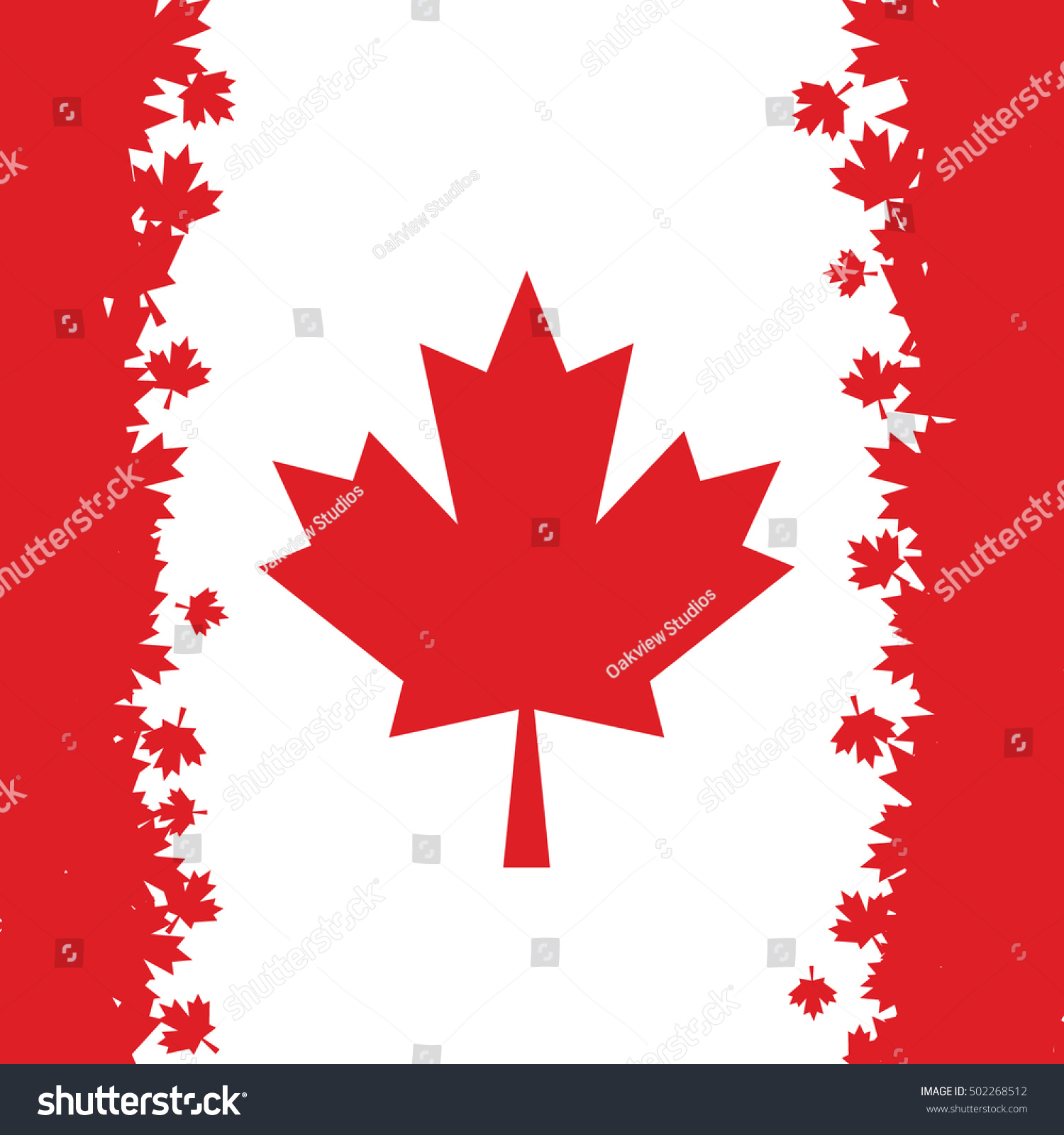 canadian flag made maple leaves vector stock vector 502268512