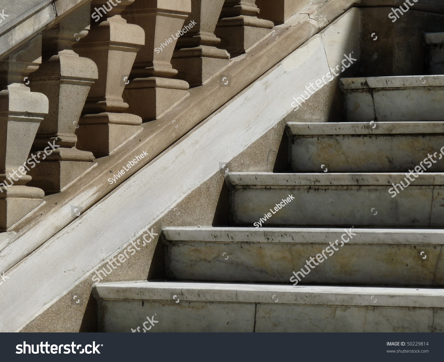 Old Building With Marble Stairs In Brisbane Australia