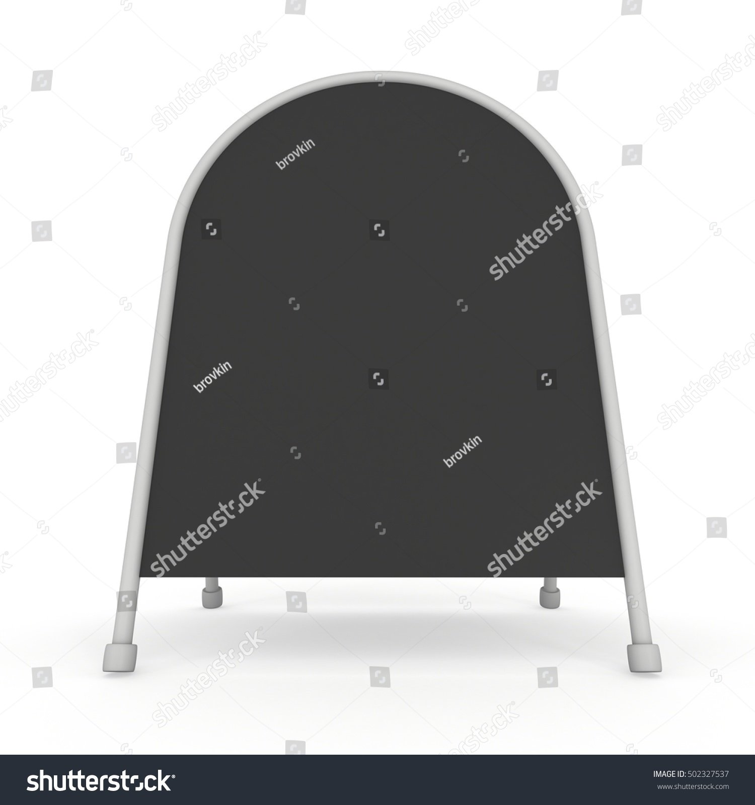 Sandwich board. Black menu outdoor display with clipping path. Trade ...
