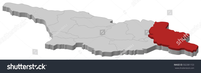 Map Of Kakheti Georgia.Map Of Kakheti Georgia